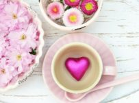 Heart Pink Cup Flowers Petals  - silviarita / Pixabay